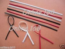 "Plastic Coated Wire Ties Twist Ties 3""/4""/5""/6""_1000pcs Black/White / Red/Golden"