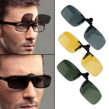Driving Night Vision Clip-on Flip-up Lens Sunglasses Glasses Cool Eyewear OW