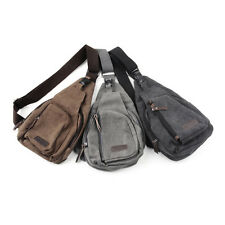 Men's Small Canvas Military Messenger Shoulder Travel Hiking Fanny Bag BackpaDP