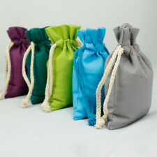 12pc Canvas Drawstring Bag Eco-frinedly Bag Jewelry Candy Beads Gift Coffce Bags
