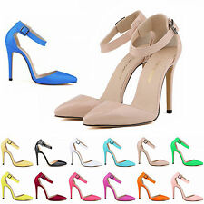 Women Pointed Toe Sandals High Heel Ladies Summer Ankle Strap Stiletto Shoes New