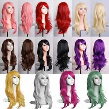 NEW 70cm Heat Resistant Long Big Wavy Curly Cosplay Full Wig 10 Color JF02