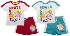 Boys Peppa GEORGE Pig Keep Skate Rollin T-Shirt & Shorts Set 3 to 8 Years