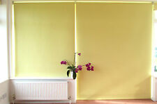 Blackout Roller Blind Yellow Textured wipe clean PVC on Aluminium tube
