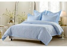 King / CKing Full / Queen Light Blue Floral Duvet Set 5 Piece Cover 4 Shams