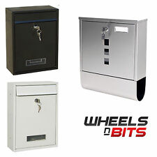 Modern Stainless black white Steel Post Box Wall Mounted Lockable Letter Mail