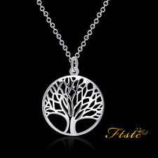 7g 925 Sterling Silver Tree of Life Pendant Charm Necklace Chain Unique New UK