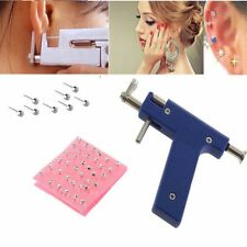 New piercer Steel Ear Nose Navel Body Piercing Gun 72pcs Studs Tool Kit Set OWS