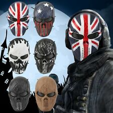 Airsoft Paintball Tactical Full Face Protection Skull Mask Skeleton Army OutdoOW