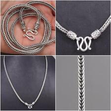 "HANDMADE WOVEN SNAKE CHAIN MENS NECKLACE 925 STERLING SILVER 18"" 20"" 22"" 24"" 26"""