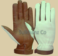 Horse Riding Gloves MEN Leather Brown & Black Premium Quality New *Clearance*