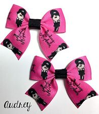 ��Adorable Cartoon Marilyn Monroe and/or Audrey Hepburn Theme Mini Bow Set��