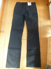 LEVIS GIRLS RED TAB STANDARD STRAIGHT LEG DARK INDIGO BLUE JEANS 27 WAIST XS 8