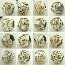 Authentic Solid 925 Sterling Silver Charms AI fit European Bead Charm Bracelets
