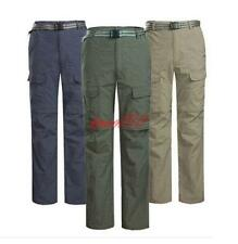 Mens Outdoor hiking Fishing Quick Dry detachable Leg Cargo Trousers Casual Pants