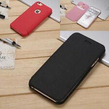 Simple Wallet Card Leather Hard Flip Skin Case Cover For iPhone 5 5s 6 6s 7 Plus