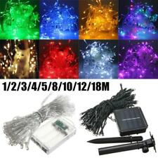 1-50M LED Battery/Solar Fairy String Light Outdoor Wedding Christmas Party XP