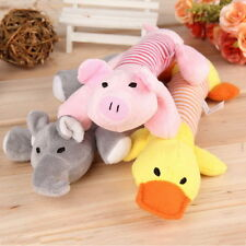 Hot Puppy Chew Squeaker Squeaky Plush Sound Elephant Duck Ball For Dog Toy XP