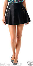 New Womens Mini Designer Skirt Genuine Soft Lambskin Leather Skirt For Women-12