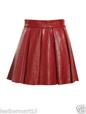 New Womens Mini Designer Skirt Genuine Soft Lambskin Leather Skirt For Women-19
