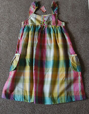 john lewis girls multi coloured check dress 100% cotton  Age 2 Years     (1030)