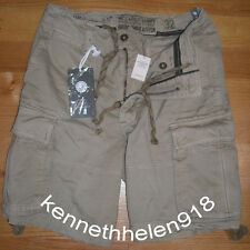NWT ABERCROMBIE & FITCH MENS CARGO SHORTS KHAKI SIZE 32 A&F