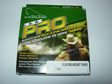 CORTLAND 333 PRO TROUT FLOATING ROCKET TAPER Fly Fishing Line ALL WEIGHTS YELLOW