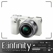 NEW Sony Alpha A6000 White Digital Camera + 16-50mm Lens Special Edition