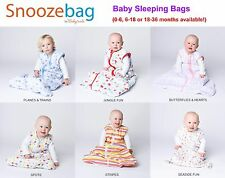 Snoozebag Baby Sleeping Bag/Sack - 0.5/1.0/2.5 tog (0-6, 6-18,18-36m) *6 Designs