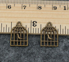 Wholesale 20/100pcs Tibetan Silver Beautiful Cage Jewelry Charms Pendant 16x11mm
