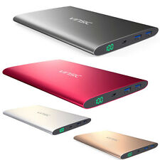 VINSIC 15000mAh Dual USB External Battery Charger Power Bank for iPhone Samsung