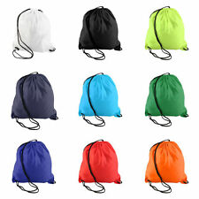 New School Drawstring Duffle Bag Sport Gym Swim Dance Shoe Backpack DE