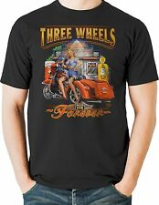 Three Wheeler Motorcycle T shirt Biker Trike Scooter Hogg Mens Size Small to 6XL