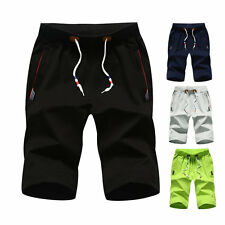 Mens Casual Cotton Shorts Gym Trousers Sports Pants Jogging Running Shorts M-5XL