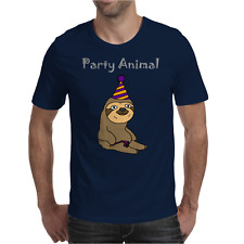 Awesome Funny Sloth Party Animal Mens T-Shirt