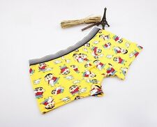 Underwear Boxer Mens Shorts Trunks Cotton Boxers New Low Rise Nightwear Yellow