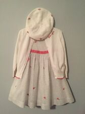 Janie and Jack Classic Belle Rose Floral Easter Dress Sweater and Beret 12 18 2T