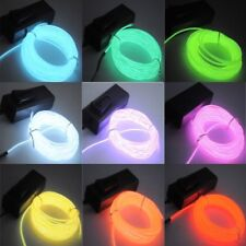 1-5M Flash Flexible Neon LED Light Glow EL Strip Tube Wire Rope Car Party WU