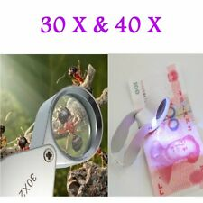 30X/40X Glass Magnifying Magnifier Jeweler Eye Jewelry Loupe Loop XP
