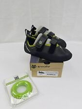 Evolv Defy strap charcoal/lime climbing shoes sizes 7-11.5