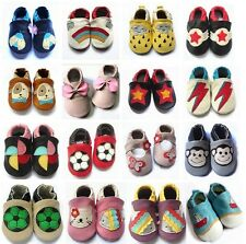 New Soft Sole 100% Leather Baby Infant Boys Girls Shoes Prewalker Size 00,0,1,2
