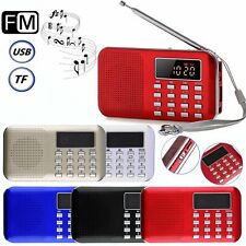 Mini Portable LCD Digital FM Radio Speaker USB Micro TF Card Mp3 Music XP