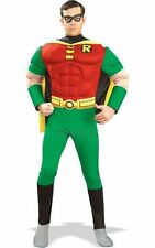 SALE Adult Licensed Batman 70s Movie Muscle Chest Robin Mens Fancy Dress Costume