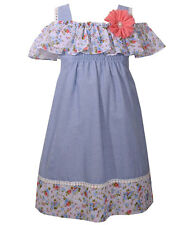 "Bonnie Jean Little Girls' ""Chambray Smocked"" Dress (Sizes 4 - 6X)"