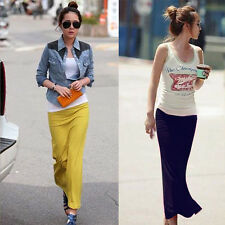 Stylish Lady Slim Package-hip Skirt Casual Straight Long Skirt Elastic Waist