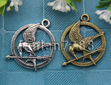 Hot 5/20/100pcs Tibet Silver exquisite Birds Jewelry Charms Pendant 30x25mm F