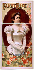 Photo Print Vintage Poster: Theatre Flyer From 1800'Sfanny Rice 01 1