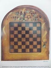 Checker or Chess Board A Touch of Gold Painting Pattern Packet by Gretchen Cagle