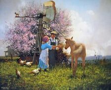"""Raymond Knaub, """"Spring Blossoms"""", poster, 20""""h x 24""""w, signed or unsigned"""