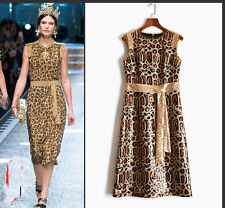 High-end heavywork embroidery with luxury sequined leopard-print dresses